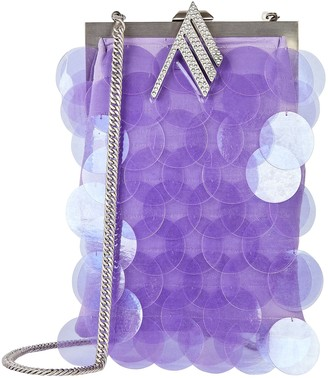 The Attico Jackie Sequin-Embellished Clutch