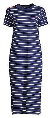 Polo Ralph Lauren Women's Stripe Midi T-Shirt Dress