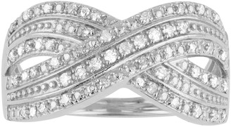 I Promise You Sterling Silver 1/4 Carat T.W. Crossover Ring
