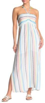 Pool' POOL TO PARTY Kauai Stripe Printed Halter Dress