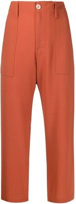 Jejia Cropped High-Waist Trousers
