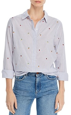 Rails Taylor Embroidered Striped Shirt
