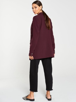 Very Longline Military Jacket - Berry