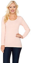 As Is Isaac Mizrahi Live! Seamless Long Sleeve Knit Top