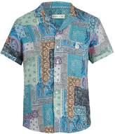 Etro Paisley-print short-sleeved linen shirt