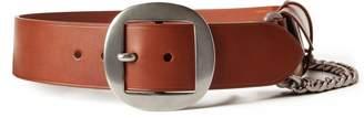 Ralph Lauren Pouch-Chain Leather Belt