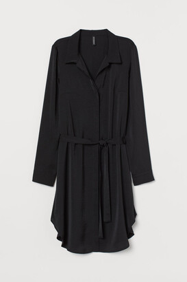H&M Short Shirt Dress - Black