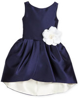 Zoë Ltd Sleeveless Sateen Party Dress, Navy/Ivory, Size 7-16