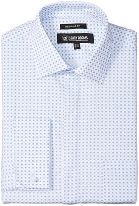 Stacy Adams Men's Two Tone DOT Classic FIT Dress Shirt