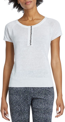 Nic+Zoe Petite Button Up Short-Sleeve Tee