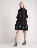 Cynthia Rowley Polished Cotton Embroidered Dress