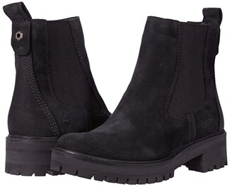 Timberland Courmayeur Valley Chelsea (Black Nubuck) Women's Pull-on Boots