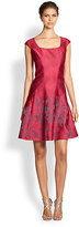 Kay Unger Seamed Fit & Flare Dress