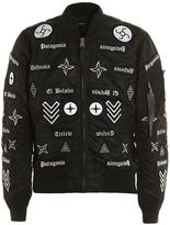 Marcelo Burlon County of Milan Roldan Alpha Ma-1 Bomber Jacket