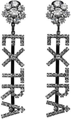 Ashley Williams Black and Transparent Extra Drop Earrings