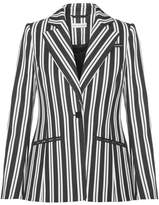 Altuzarra Acacia Striped Wool-blend Blazer - Charcoal