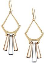 Robert Lee Morris Topaz & Black Diamond & Gold Chandelier Earrings