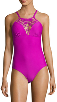 Athena Cabana Solids High Neck One Piece