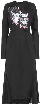 Prada Printed cotton-jersey midi dress