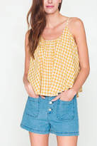 Movint Checkered Sleeveless Swing Top