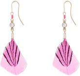 Accessorize Sparkle Feather Drop Earrings