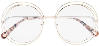 Chloé Eyewear Round-Frame Double-Wire Glasses