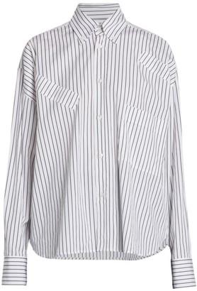 Plan C Regular-Fit Stripe Button-Down Shirt
