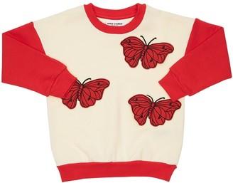 Mini Rodini Cotton Sweatshirt W/ Butterfly Patch