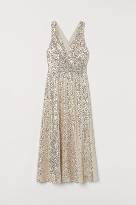 H&M V-neck Sequined Dress