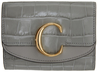 Chloé Grey Small C Trifold Wallet