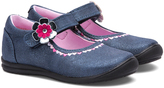 Rachel Blue & Pink Floral-Accent Lane Mary Jane