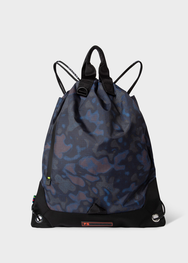 Paul Smith Men's 'Heat Map Camo' String Backpack