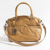 Tignanello Polished Convertible Satchel - Cognac