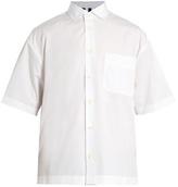 Marni Striped-panel Cotton-poplin Shirt