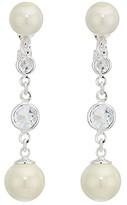 Lauren Ralph Lauren Glass Pearl Drop Earrings (Silver 1) Earring