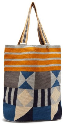 Guanabana - Liam Abstract-pattern Woven Tote Bag - Grey