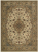 "Nourison Area Rug, Persian Arts BD02 Ivory/Gold 9' 6"" x 13'"