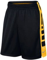 Nike Men's Elite Stripe Basketball Shorts Black/Maize Sz