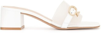 Gianvito Rossi Buckle-Detail Backless Mules