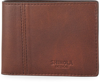 Shinola Men's Heritage Split Leather Bifold Wallet