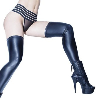 Coquette Plus Size Wet Look Thigh Highs
