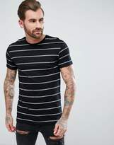 Pull&Bear Stripe T-Shirt In Black