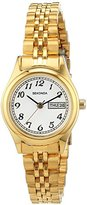 Sekonda Women's Quartz Watch with White Dial Analogue Display and Gold Stainless Steel Bracelet 2196.27