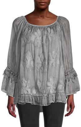 Le Marais Ruffle Embroidery Tunic