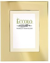 """Eccolo Gold Collection Photo Frame with 5 by 7"""" Mat, 8 by 10"""", Smooth Beaded"""