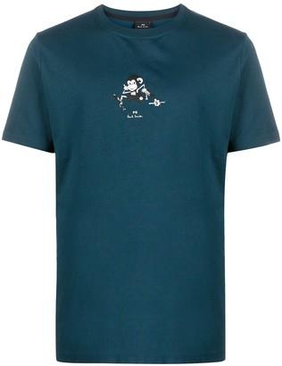 Paul Smith Running Monkey-print organic cotton T-shirt