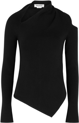 Monse Black Cut-out Wool-blend Jumper