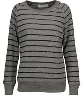 IRO Lourdes striped marled cotton-blend sweater