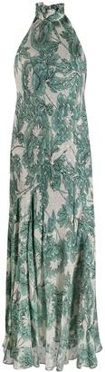 Dvf Diane Von Furstenberg Leeann floral halter-neck dress