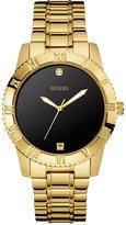 GUESS Men's Diamond Accent Gold-Tone Steel Bracelet Watch 42mm U0416G2